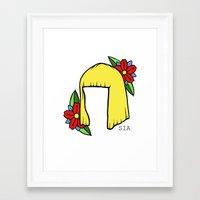 sia Framed Art Prints featuring SIA BOB 2 by Melina Espinoza