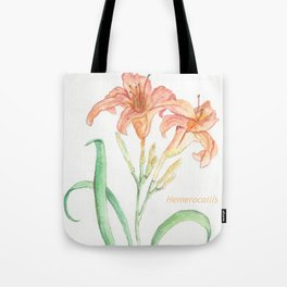Hemerocallis (Day Lily) Tote Bag