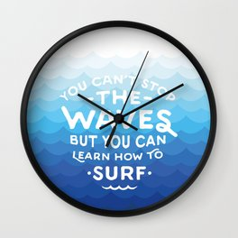 Learn to Surf Wall Clock