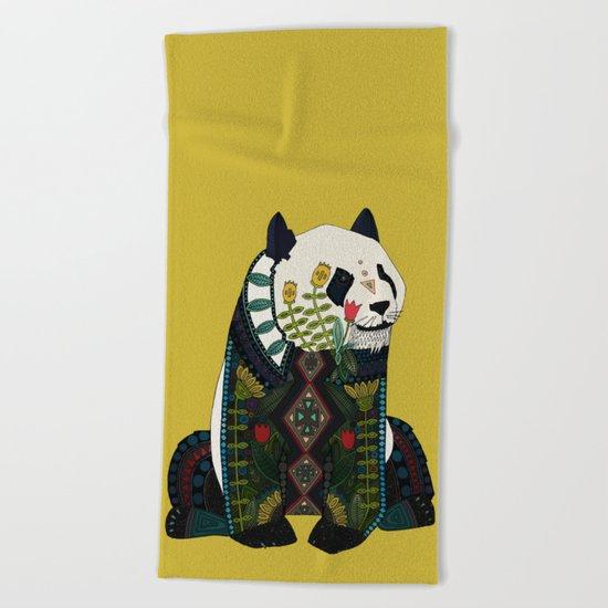 panda ochre Beach Towel