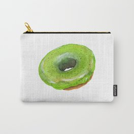Matcha Glazed Donut Carry-All Pouch