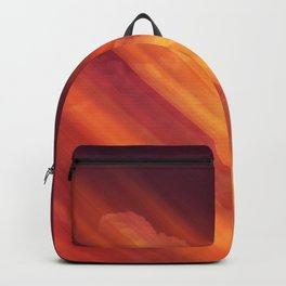 Vibrant Colorful Rays between Clouds 03 Backpack