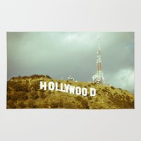 hollywood Area & Throw Rugs featuring Hollywood by Umbrella Design
