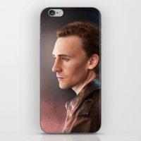 tom hiddleston iPhone & iPod Skins featuring Tom Hiddleston by EternaLegend