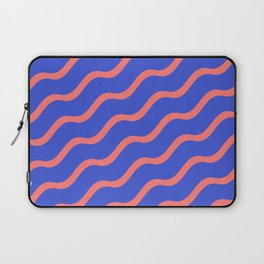 Red Waves in a Blue Sea Laptop Sleeve