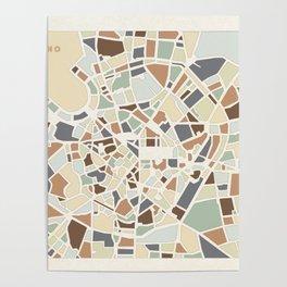 Milano Map Poster