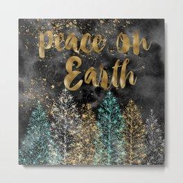 Peace on Earth Christmas Metal Print