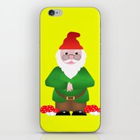 gnome iPhone & iPod Skins featuring Gnome by lescapricesdefilles