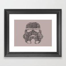 Lines of Trooper Framed Art Print