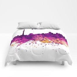 Toronto Watercolor Skyline Comforters