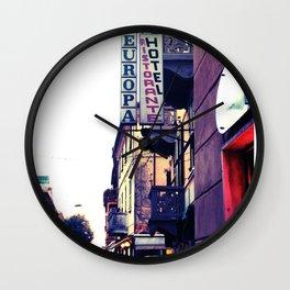Hotel Europa Wall Clock