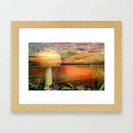 Shroom World Framed Art Print