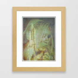 ROCKETS & CLOUDS Framed Art Print