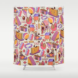 chaotic life Shower Curtain