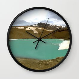 Crater Lake in Iceland Wall Clock