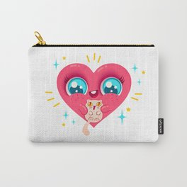 Heart and cat Carry-All Pouch