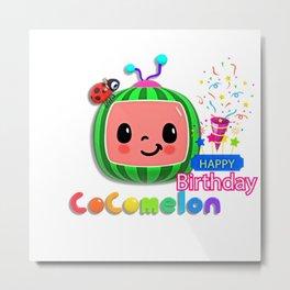 Happy Birthday Cocomelon Metal Print