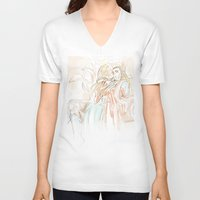 the hobbit V-neck T-shirts featuring Thranduil_The Hobbit by JoySlash
