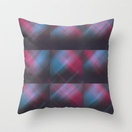Laser Plaid Throw Pillow