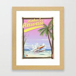 Aloha! Hawaii vintage travel poster. Framed Art Print