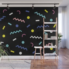 Memphis Pattern 19 - Party / 80s Retro Wall Mural