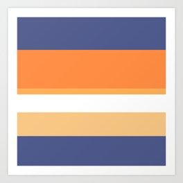 A rare fuse of Twilight, White, Topaz, Pale Orange and Royal Orange stripes. Art Print