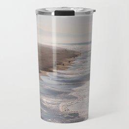Ocean Beach, San Francisco Photography, From Above Art, Surfers, Pacific Ocean, California Art Travel Mug