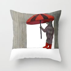 Hard Rain #3 Throw Pillow