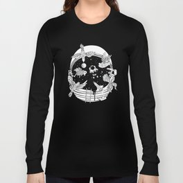 Depth of Discovery (A Case of Constant Curiosity-B/W) Long Sleeve T-shirt