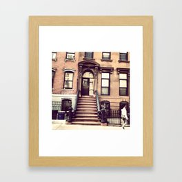 Brooklyn Brownstones Framed Art Print