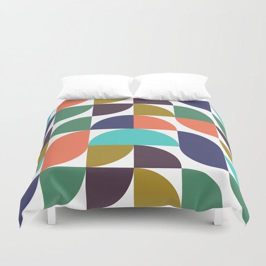 mod geo pattern Duvet Cover