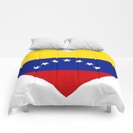 Venezuelan heart - Corazon Venezolano Comforters