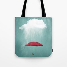 WHITE RAIN Tote Bag