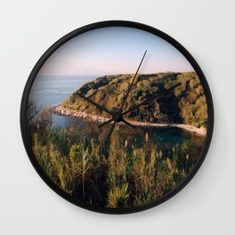 Late colors of island Wall Clock