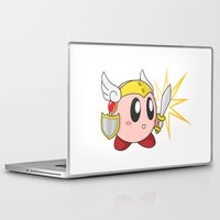 kirby Laptop & iPad Skins featuring Valkyrie Kirby by Mel W.
