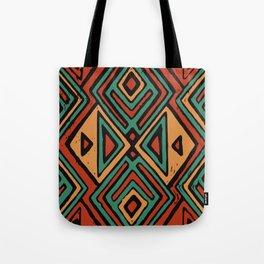 Red earth geometric pattern Tote Bag