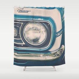 Blue Classic Camaro Shower Curtain