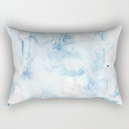 blue watercolor Rectangular Pillow