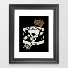 Follow Your Arrow Framed Art Print