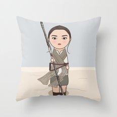 Kokeshi Rey Throw Pillow