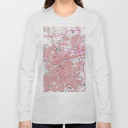 Vintage Map of Reno Nevada (1967) Long Sleeve T-shirt