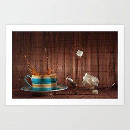 One Lump or Two Art Print