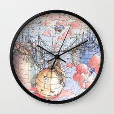 Le Tre Mongolfiere Wall Clock