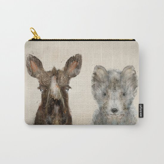 the little wolf and little moose Carry-All Pouch
