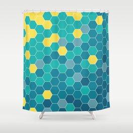 Bee Beach Shower Curtain