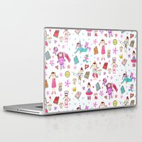 girl power Laptop & iPad Skins featuring Girl Power by Art Tree Designs