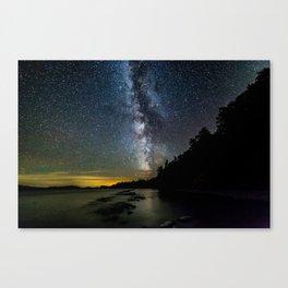 Moosehead Lake Milky Way Canvas Print