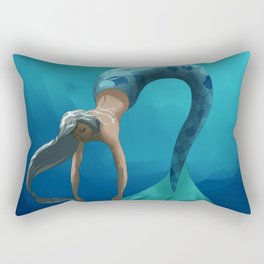 Mermaid with large scales Rectangular Pillow