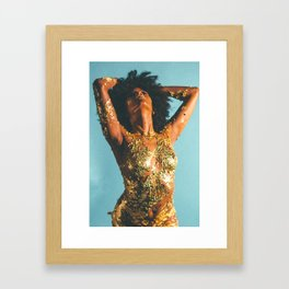 Beauty foster - skin and gold Framed Art Print