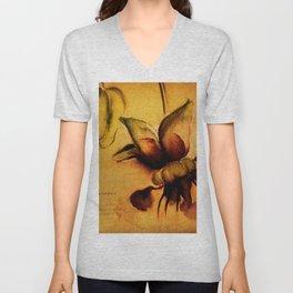 Cupuaçu flower watercolor - Brazilian tropical fruit Unisex V-Neck